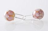 Ohrschmuck Hänger mit handgefertigten Glasperlen