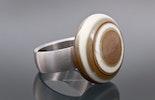 Edelstahl-Fingerring mit austauschbarem Top