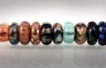 Pandora-/Trollbead-Style Modulperlen aus teilweise aus Double-Helix-Glas
