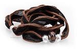 Indisches Seidenarmband schwarz mit Unikat Glas-Modulperle & Echtsilberschmuck 925.