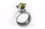 echt Silber Kronen-Fingerringe mit unikat Glasperle, können individuell bestellt werden. in den Grössen  52/54/56/58/60  CHF 98.-/Stk.
