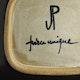 "Signature initials Jacques Pouchain and workshop stamps ""JP"" & ""Dieulefit"""
