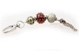 Schlüssel- und Taschenanhäger mit Glasperlen