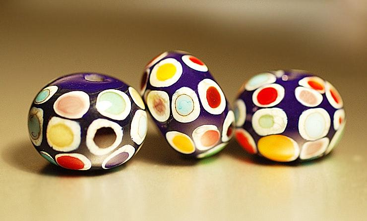 Dot-Beads, 3er Set (Durchm. ca.15mm).
