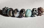 Halsketten aus Glasperlen (schmücken jetzt Astrid/Riehen-Basel)
