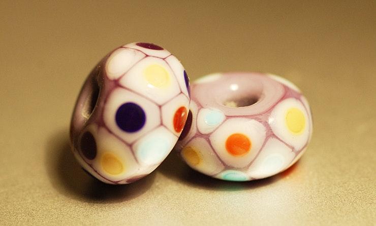 Glasperlen/Beads, 2er Set (Durchm. ca.13mm)