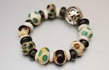 """""""Elfenminze"""" Armband aus Glasperlen mit hochwertigem Gummiband 49.00 (im Shop)"""