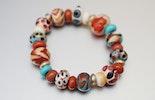 Armband aus Glasperlen;hochwertigem Gummiband (verkauft)