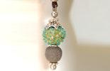 Halskette mit Anhänger mit Muranoglasperle & Lavaperle 32.-