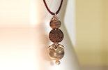 Halskette mit Anhänger mit Muranoglasperlen & Lavaperle, gehört nun Elke. Basel-Riehen