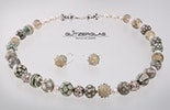 """""""Creamy"""" Halskette in zartem beige/grau/Elfenbein (Bestellung"""