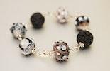 Armband aus Murano-Glasperlen mit Silberdraht und Lava - lebt jetzt bei Sandra :-) Basel-Riehen