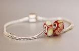 Glasperlen für Pandora-Schmuck mit 925 Silberhülse/
