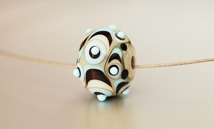 grosse Muranoglas-Perle (Durchm. ca.23 mm) Bei Käthi