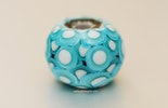 Perle in türkis aus Muranoglas