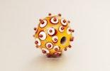 Orange/weiss/rot Glasperle aus Muranoglas
