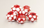 6-er Set Fliegenpilz-Perlen aus Muranolas