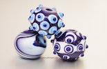 Königsblau 3-er Set aus Muranoglas (verkauft an Gies aus Werther/Deutschland)