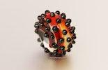 """Fireball"" Muranoglasperle (verkauft am Ostermarkt Bremgarten)"
