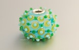 Türkis-Candy grosse Perle mit echt Silberhülse (Durchm. ca.23 mm). (vergeben)
