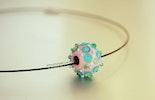 """""""Lollipop"""" Halskette mit Einzel-Muranoglasperle gekauft von Frau Roos/AG"""