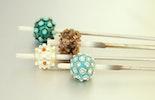 Lampwork beads on the mandrel