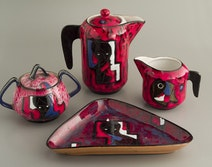 Coffee set from 1950's by Rufinelli from Asissi, Italy