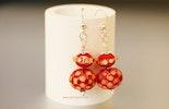 1001 Nacht Ohrringe mit roten Perlen aus Muranoglas, Silber 925. an Gabi =)