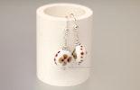 Flower-Candy Ohrringe mit Linsenförmigen Muranoglasperlen, Silber 925 (verkauft )
