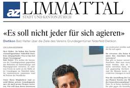 Limmattalerzeitung, 8. Januar 2013