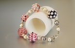 Bracelet made of Murano glass beads and Sterling Silver Jewelry 925, Zurich / Basle