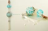 Halsketten-Anhänger mit Beads - Glitzerglas.ch