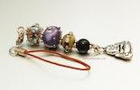 """""""Little Buddha I"""" Glasperlen-Anhänger. Perlenmix aus Murano- und Bullseyeglass. lebt jetzt bei Sarah/Basel)"""