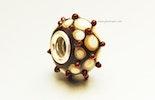 Pandora/Trollbeadstyle mit Muranoglas & Silberhülse 925