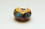 Pandora/Trollbeadstyle mit Murano/DoubleHelix & Silberhülse 925