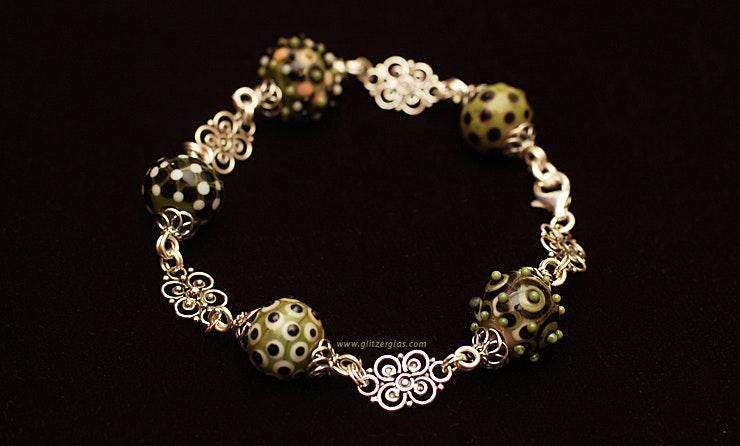 """""""Mumbai"""" Armband mit Muranoglasperlen & Silberperlen, alles 925 Silber (Verkauft am Kellerfest Oetwil a.d.L.)"""