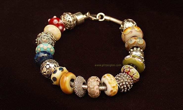 Grosse Auswahl an Pandora Style/ Trollbead Style Glasperlen
