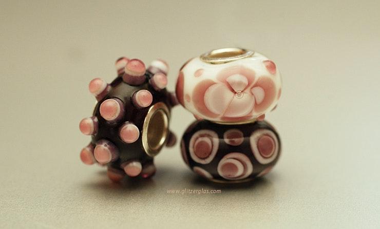 Pandoramix in lila/rosa mit Silber925-Hülse