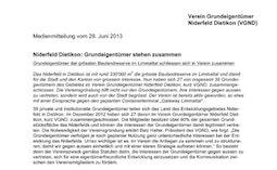 Medienmitteilung , 28. Juni 2013