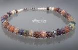 Sternenschweif Halskette_mit Silberglas-Glasperlen in den verschiedensten Farbvariationen
