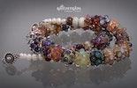 Sternenschweif Halskette_mit Silberglas-Glasperlen in den verschiedensten Farbvariationen Bild2