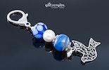 """""""blaue Taube"""" Schlüssel- oder Taschenanhänger mit Ornament-Taube"""