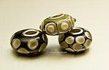 """Olive-Beauties"" Pandora Style-Perlen mit Silber925 Hülse"