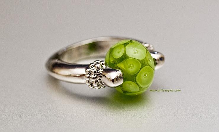 """""""Green-Eye"""" Fingerring Geschenk für Gaby :-)"""
