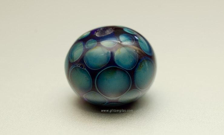 """""""Kronos"""" Perle aus Double-Helix-Glas (verkauft)"""