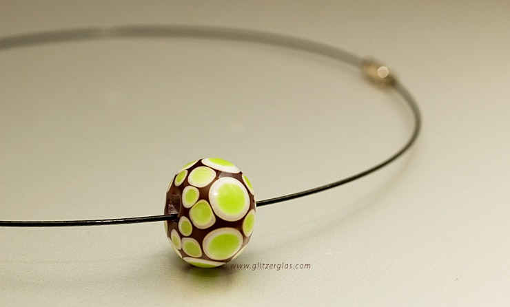 """Springtime"" Muranoglasperle am Halsreif (Bestellung Jacqueline)"
