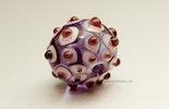 """Purplerain-Drop"" Muranoglas- Perle"