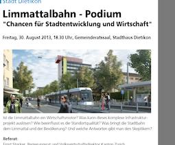 Limmattalbahn-Podium, Stadt Dietikon