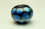 """""""wide-sea"""" Schwarze Glasperle mit Kronosglas (verkauft an Marlene meine Standnachbarin am Ostermarkt inBremgarten)"""