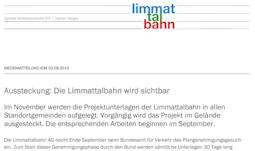 Medienmitteilung vom 02.09.2013